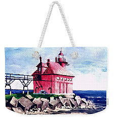 All Red Weekender Tote Bag