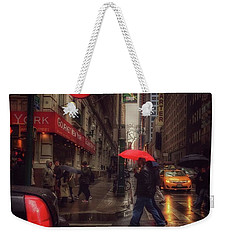 All That Jazz. New York In The Rain. Weekender Tote Bag