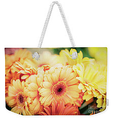 Weekender Tote Bag featuring the photograph All The Daisies by Ana V Ramirez
