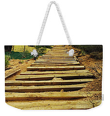 Weekender Tote Bag featuring the photograph All The Way Up by Christin Brodie
