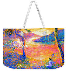 Buddha Meditation, All Things Bright And Beautiful Weekender Tote Bag by Jane Small