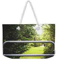 Weekender Tote Bag featuring the photograph All Things Green by Shelby Young