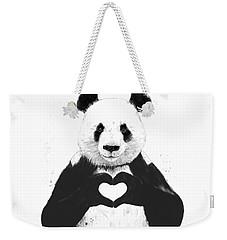 All You Need Is Love Weekender Tote Bag