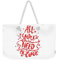 Weekender Tote Bag featuring the digital art All You Need Is Love by Edward Fielding
