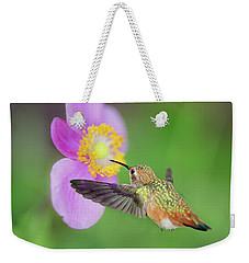 Allens Hummingbird And Anemone Weekender Tote Bag