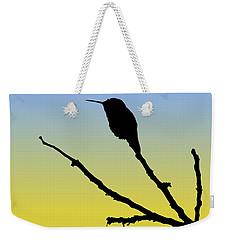 Allen's Hummingbird Silhouette At Sunrise Weekender Tote Bag