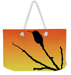 Allen's Hummingbird Silhouette At Sunset Weekender Tote Bag