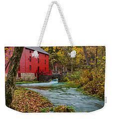 Alley Mill In Autumn Weekender Tote Bag