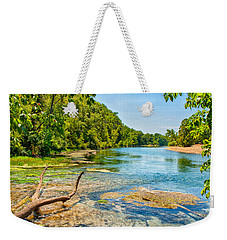 Weekender Tote Bag featuring the photograph Alley Springs Scenic Bend by John M Bailey