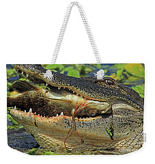 Alligator With Tilapia Weekender Tote Bag