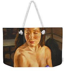 Allison Three Weekender Tote Bag by Bryan Bustard
