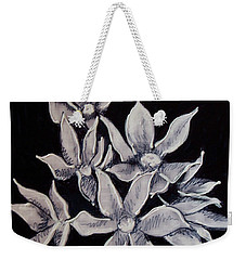 Weekender Tote Bag featuring the painting Allium Moly by Kym Nicolas