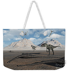 Allosaurus Dinosaurs Approach A Group Weekender Tote Bag