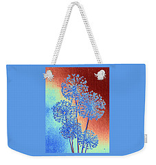 Weekender Tote Bag featuring the mixed media Alluring Allium Abstract by Will Borden