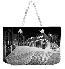 Weekender Tote Bag featuring the photograph Alma Restaurant by Gary Gillette