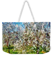 Almond Orchard Blossom Weekender Tote Bag