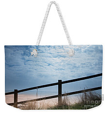 Weekender Tote Bag featuring the photograph Almost At The Beach by Jan Bickerton