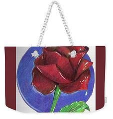 Almost Black Rose Weekender Tote Bag