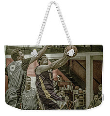 Weekender Tote Bag featuring the photograph Almost Blocked by Ronald Santini