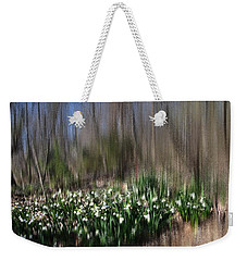 Weekender Tote Bag featuring the photograph Almost Spring by Jacqueline M Lewis