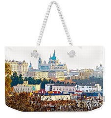 Almudena Cathedral And The Royal Palace Of Madrid Spain Weekender Tote Bag