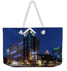 Weekender Tote Bag featuring the photograph Aloft Louisville by Randy Scherkenbach