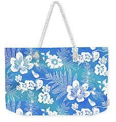Aloha Lace Kaua'i Blue Weekender Tote Bag