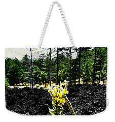 Weekender Tote Bag featuring the mixed media Alone Again by Lucia Sirna