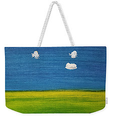 Weekender Tote Bag featuring the painting Alone And Fine by Judith Rhue