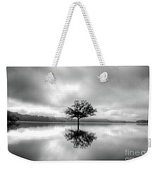 Weekender Tote Bag featuring the photograph Alone Bw by Douglas Stucky
