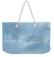 Weekender Tote Bag featuring the digital art Alone by Darren Cannell