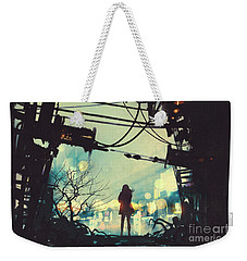 Alone In The Abandoned Town#2 Weekender Tote Bag