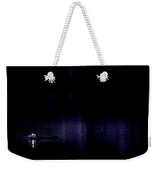 Weekender Tote Bag featuring the photograph Alone In The Dark by Mark Andrew Thomas