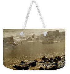 Weekender Tote Bag featuring the photograph Alone In The Mist by Iris Greenwell