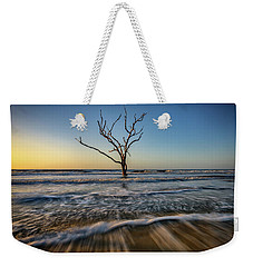 Weekender Tote Bag featuring the photograph Alone In The Water by Rick Berk