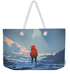 Alone In Winter Weekender Tote Bag