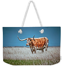Weekender Tote Bag featuring the photograph Alone On The Trail by Linda Unger