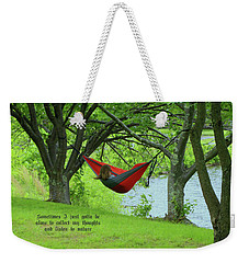 Alone With My Thoughts Weekender Tote Bag by Dennis Baswell