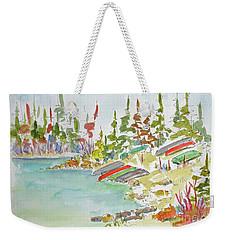 Along Patricia Lake Weekender Tote Bag by Pat Katz