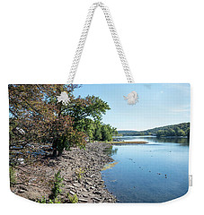 Along The Bank Of The Delaware River Weekender Tote Bag