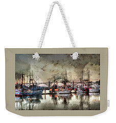 Weekender Tote Bag featuring the photograph Along The Bay Front by Thom Zehrfeld