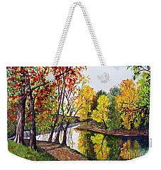 Along The Blanchard Weekender Tote Bag by Nancy Cupp
