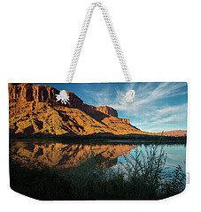 Weekender Tote Bag featuring the photograph Along The Colorado by Gary Lengyel