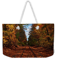 Along The Rails Weekender Tote Bag
