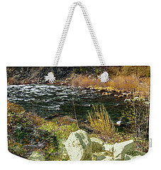 Along The Stream Weekender Tote Bag