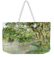 Weekender Tote Bag featuring the painting Along The Susquehanna by Melly Terpening
