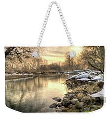 Along The Thames River Signed Weekender Tote Bag