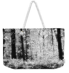 Along The Top Bw  Weekender Tote Bag by Lyle Crump