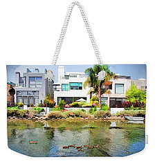 Weekender Tote Bag featuring the photograph Along The Venice Canals by Chuck Staley