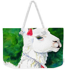 Alpaca With Attitude Weekender Tote Bag by Carlin Blahnik